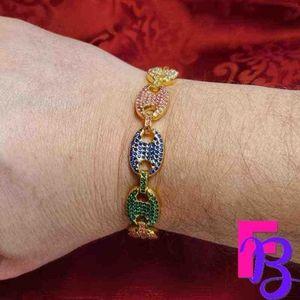 "8"" 18K Mariner Link Chain Bracelet"